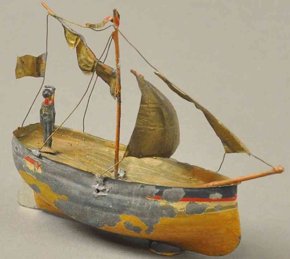 uebelacker penny toy segelboot aus blei