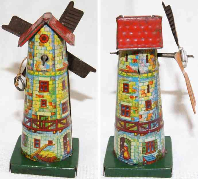 unknown Windmühle penny toy windmühle auf grünem podest, hersteller wahrscheinlich distl