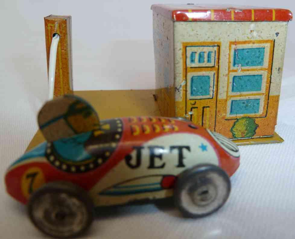 yonezawa penny toy gas station garage race car