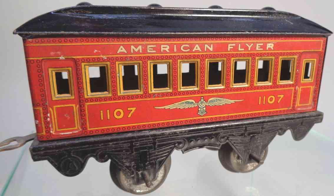 american flyer 1107 spielzeug eisenbahn schlafwagen rot spur 0