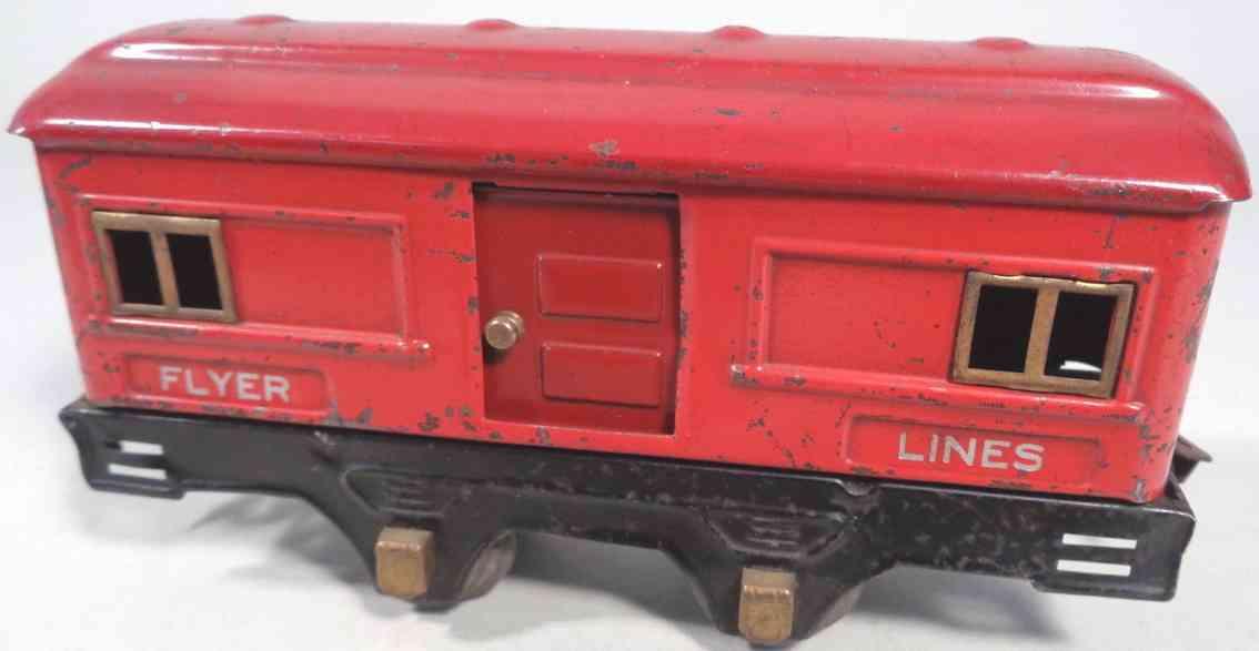 american flyer 1204 spielzeug eisenbahn gepaeckwagen rot spur 0