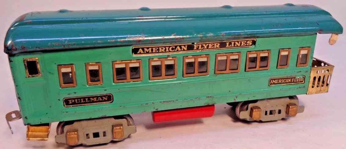american flyer 3282 spielzeug eisenbahn aussichtswagen blaugruen spur 0