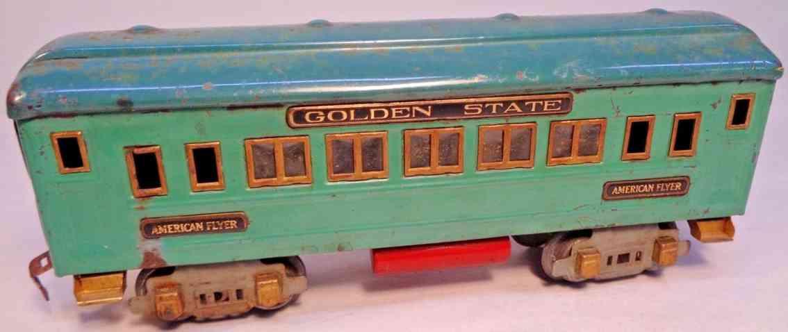 american flyer 3281 eisenbahn golden state schlafwagen blau gruen spur 0
