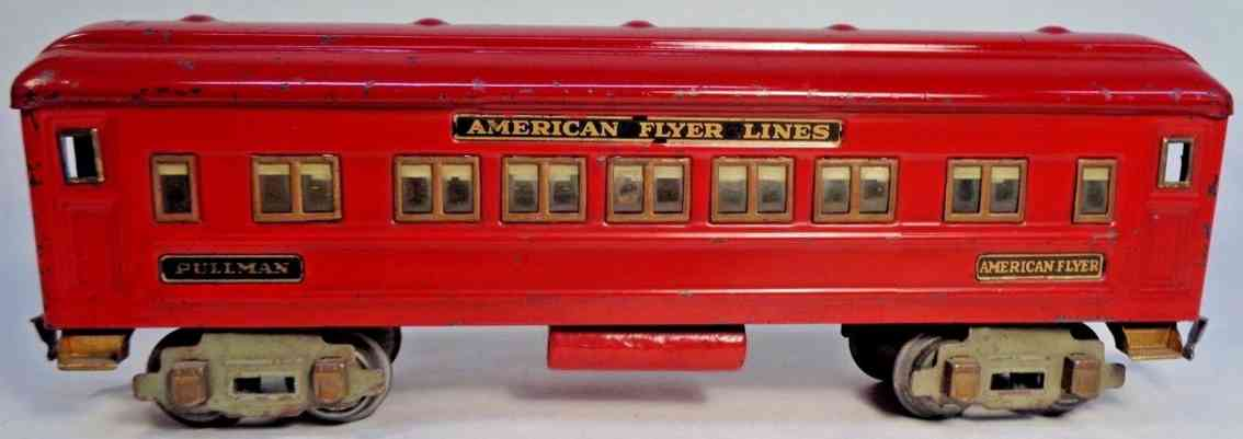 american flyer toy company 3381 railway toy pullman car red gauge 0