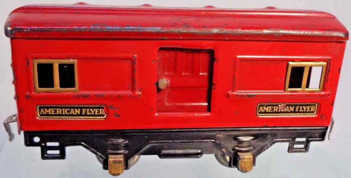 american flyer toy company 3540 railway toy baggage car red gauge 0