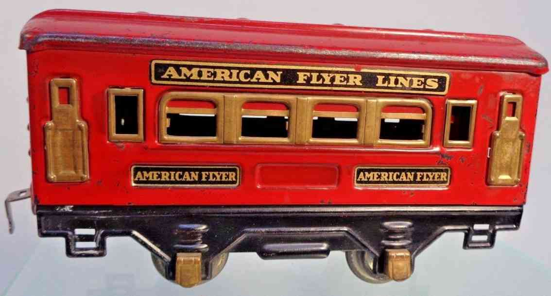 american flyer toy company 3524 railway toy pullman car red gauge 0