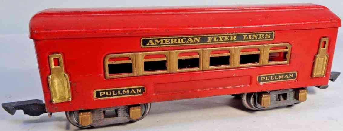 american flyer toy company 404 railway toy pullman car red gague 0