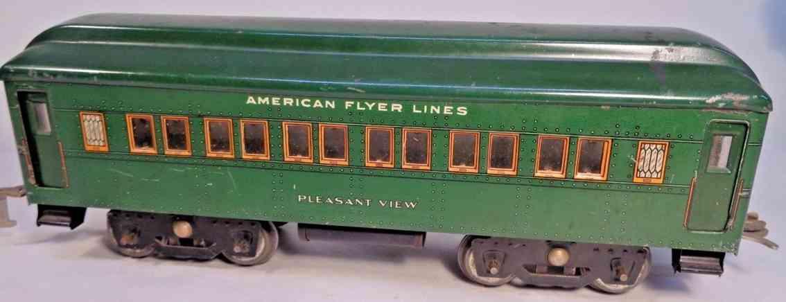 american flyer 4141 spielzeug eisenbahn schlafwagen gruen spur 0