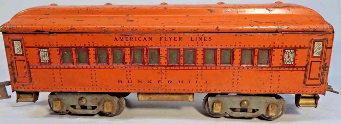 american flyer 4141 spielzeug eisenbahn schlafwagen orange bunkerhill spur 0