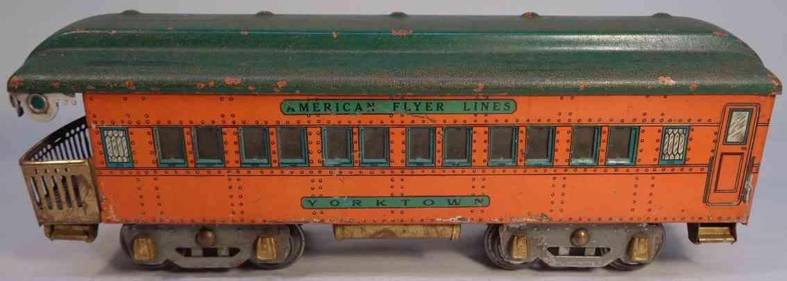 american flyer 4152 spielzeug eisenbahn aussichtswagen yorktown orange standard gauge