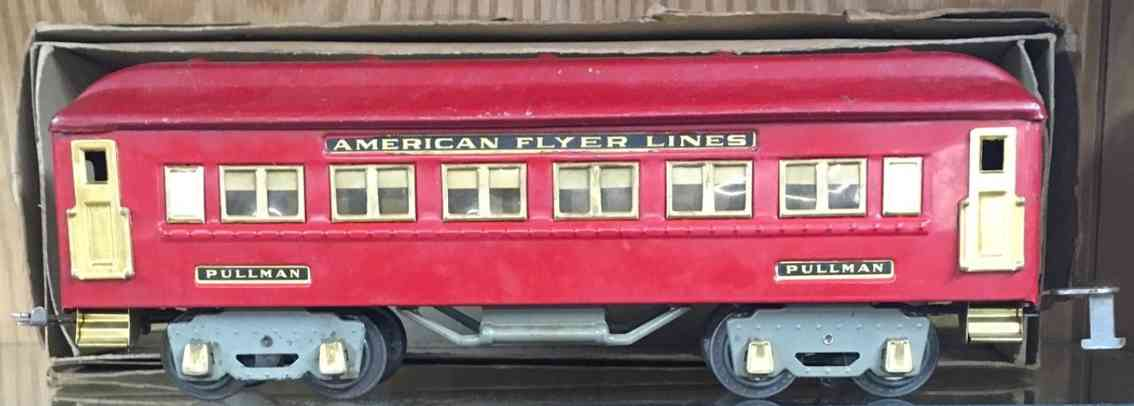 american flyer 4331 railway toy pullmann car red standard gauge
