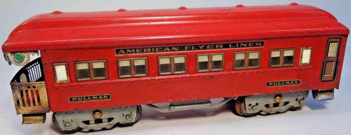 american flyer 4332 spielzeug eisenbahn aussichtswagen pullmann rot standard gauge
