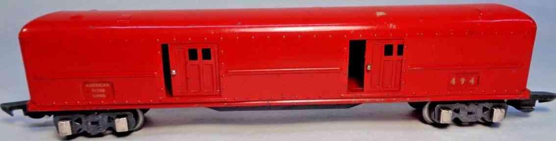 american flyer toy company 494 spielzeug eisenbahn gepaeckwagen rot spur 0