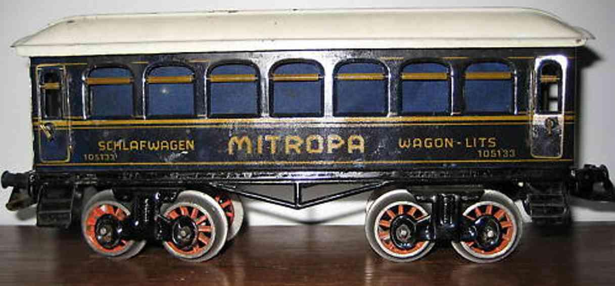 bing 10/5133 spielzeug eisenbahn mitropa schlafwagen blau