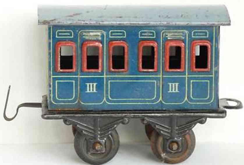 bing 10/51 10154 spielzeug eisenbahn personenwagen blau
