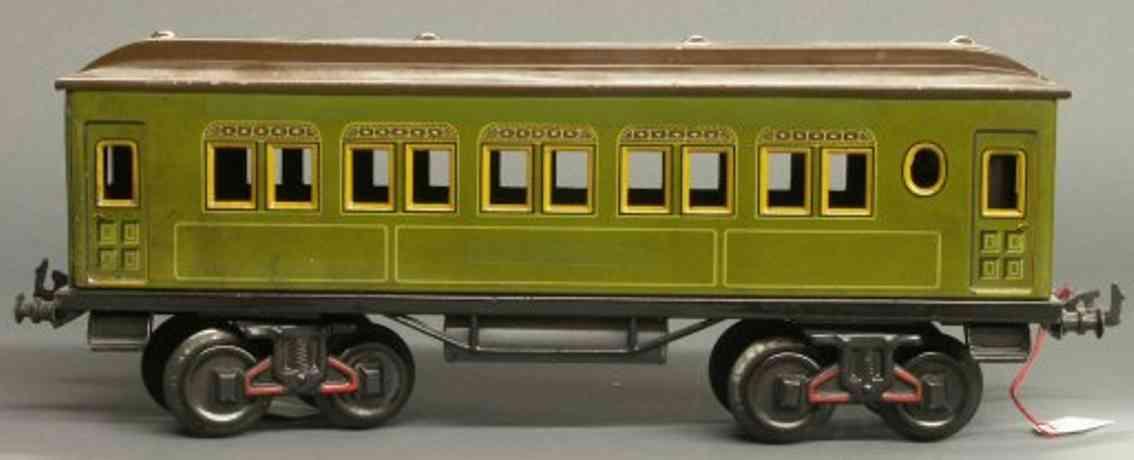 bing 10/523/1 spielzeug eisenbahn personenwagen gruen spur 1
