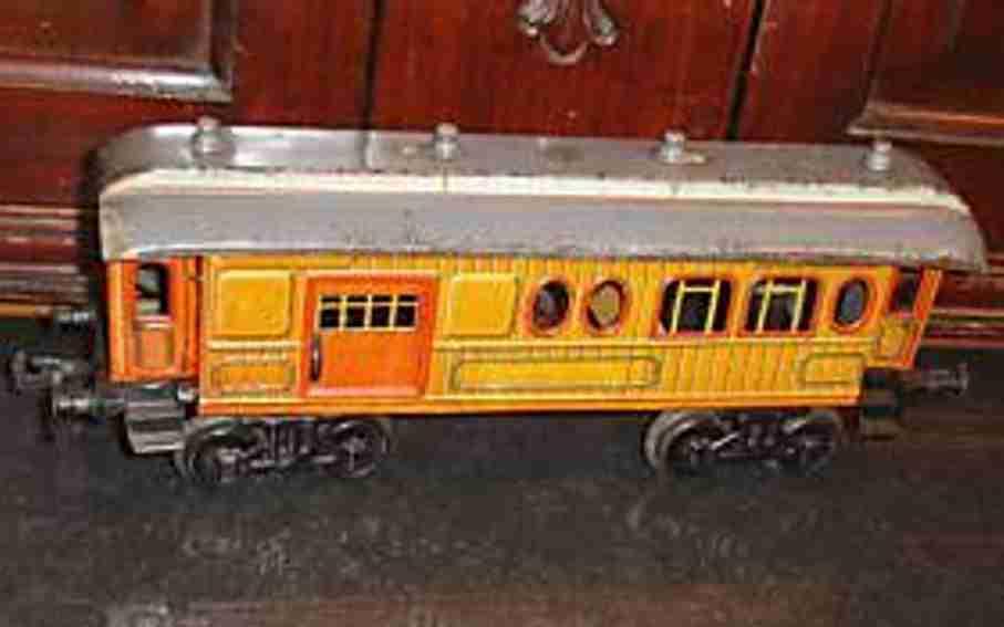 bing 10/532 (13537) (10392 spielzeug eisenbahn personenwagen post-gepäckwagen; 4-achsig, salonwagen für den luxus-express