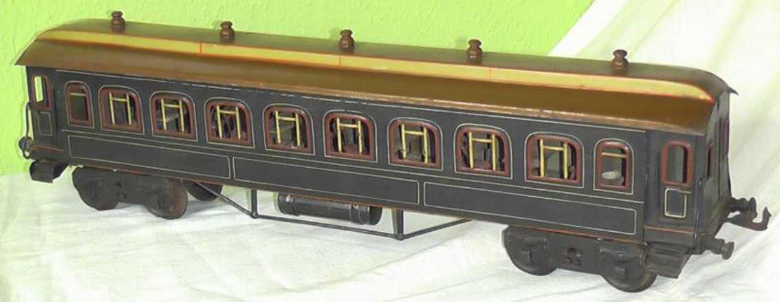 bing 10/539 spielzeug eisenbahn schlafwagen blau spur 1