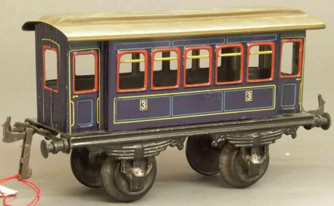bing 10/55 spielzeug eisenbahn personenwagen blau spur 1