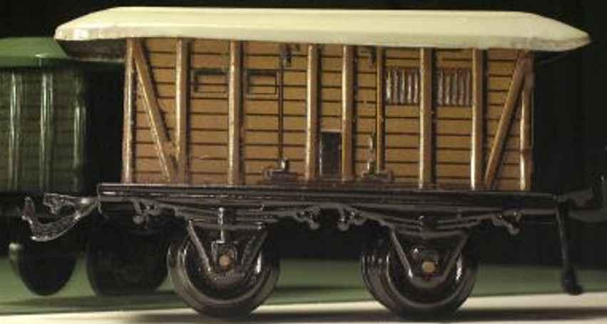 bing 10/56 10159 spielzeug eisenbahn gepaeckwagen rotbraun spur 1