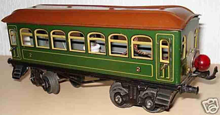 bing 10/569 spielzeug eisenbahn personenwagen personenwagen; 4-achsig; grün chromlithografiert , 4 türen z