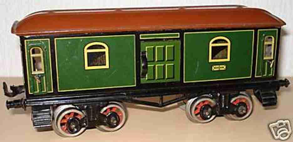 bing 10/570 railway toy baggage car green gauge 0