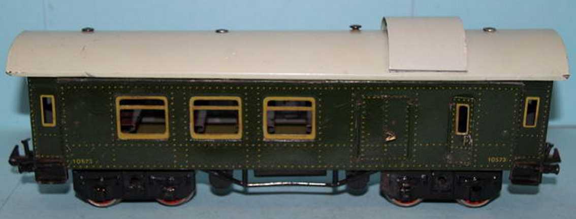 bing 10/573 railway toy baggage car green gauge 0