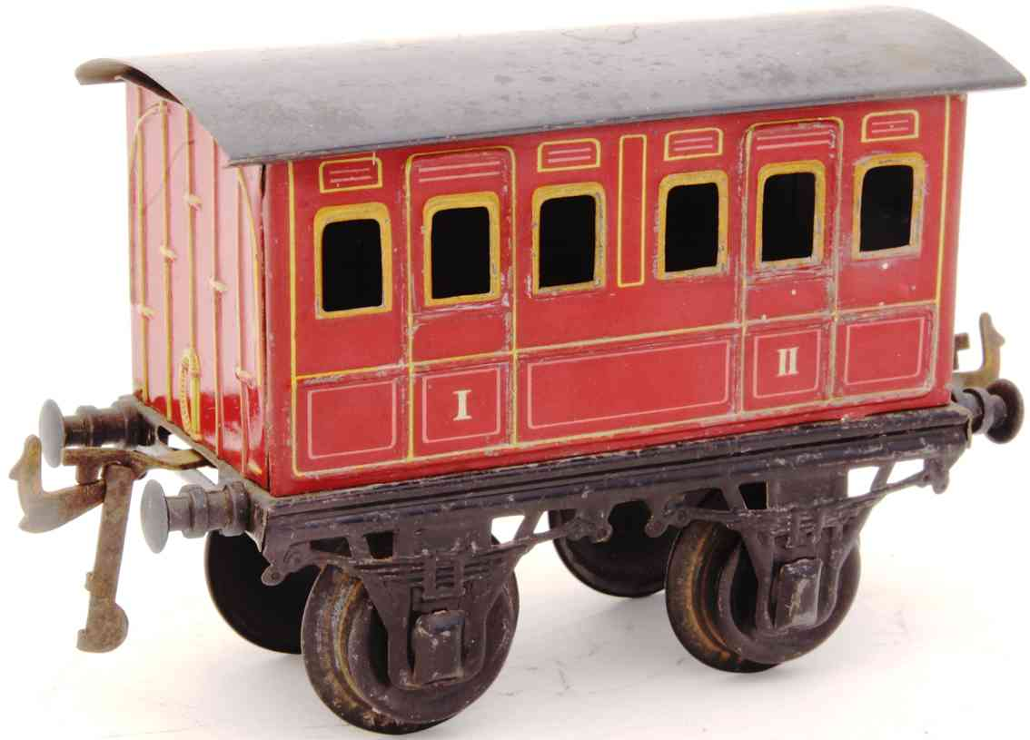 bing 10156 rot railway toy compartment car red gauge 1