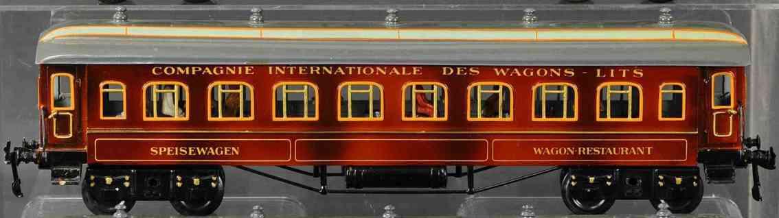 bing 10286 railway toy french dining car teak brown gauge 1