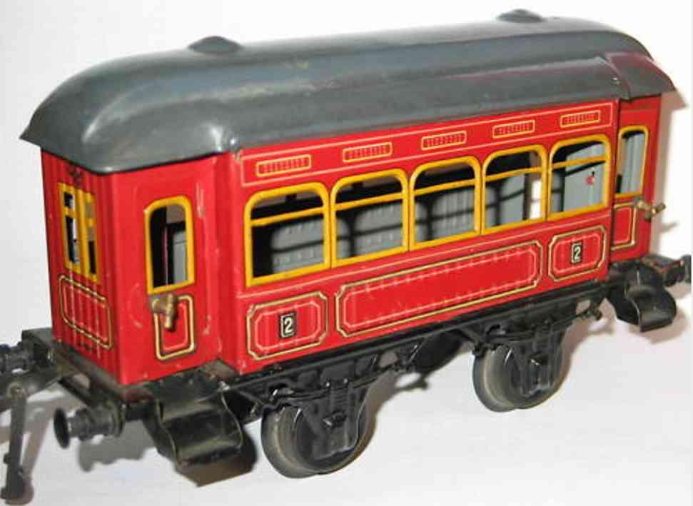 bing 10366 spielzeug eisenbahn personenwagen rot spur 1
