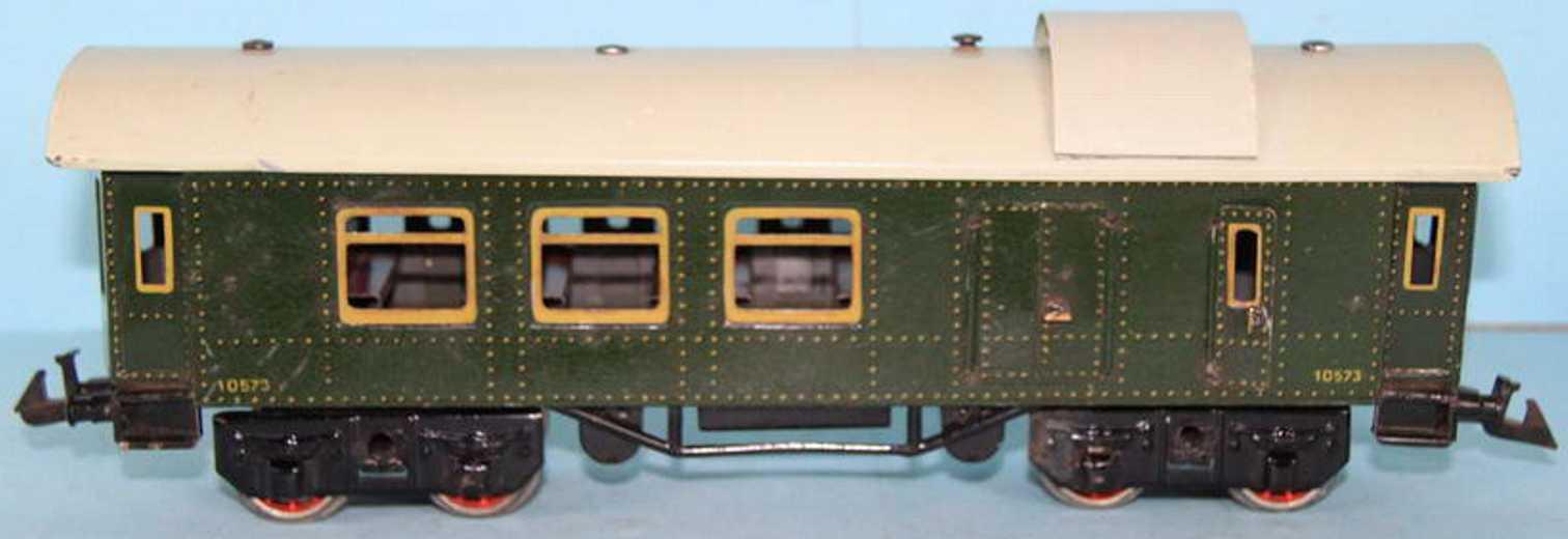 Bing 10573 Personenwagen und Gepäckwagen grün