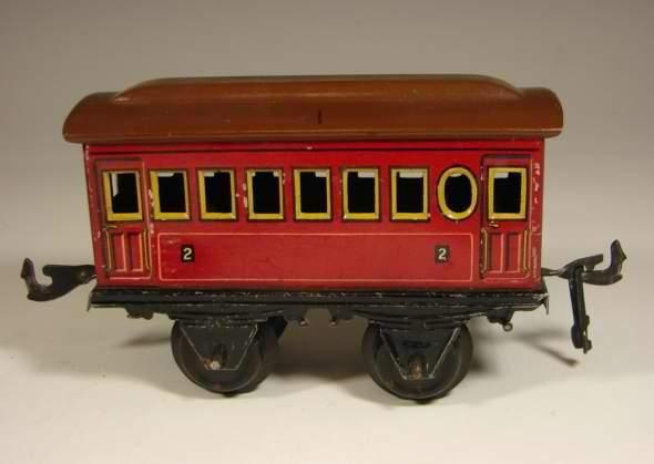 bing 11/333/0 spielzeug eisenbahn personenwagen rot spur 0