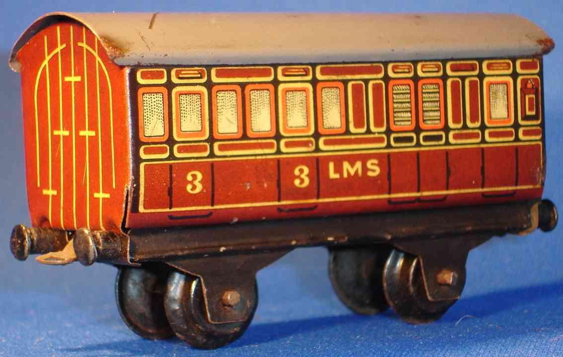 bing 11/923/4 lms spielzeug personenwagen tischeisenbahn spur 00