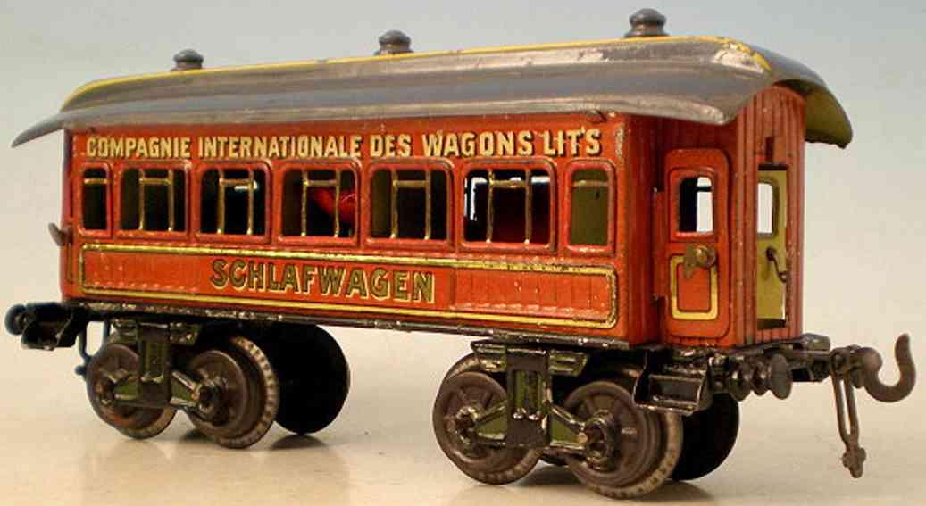 bing 13638/0 spielzeug eisenbahn schlafwagen teakbraun spur 0