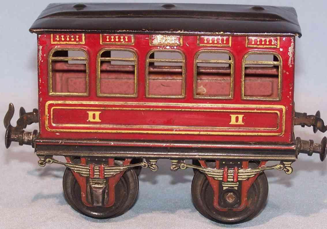bing 8402/1 railway toy passenger car red gauge 1