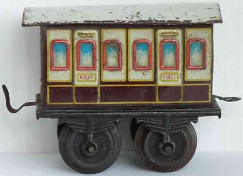 bing 18793 spielzeug eisenbahn englischer personenwagen weiss braun spur 0