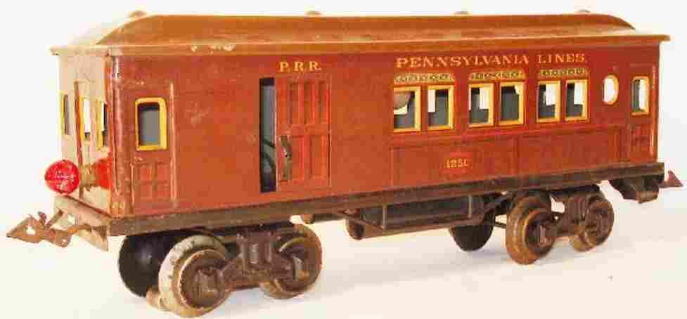 bing 528/63 spielzeug eisenbahn amerikanischer personen-gepaeckwagen spur 1