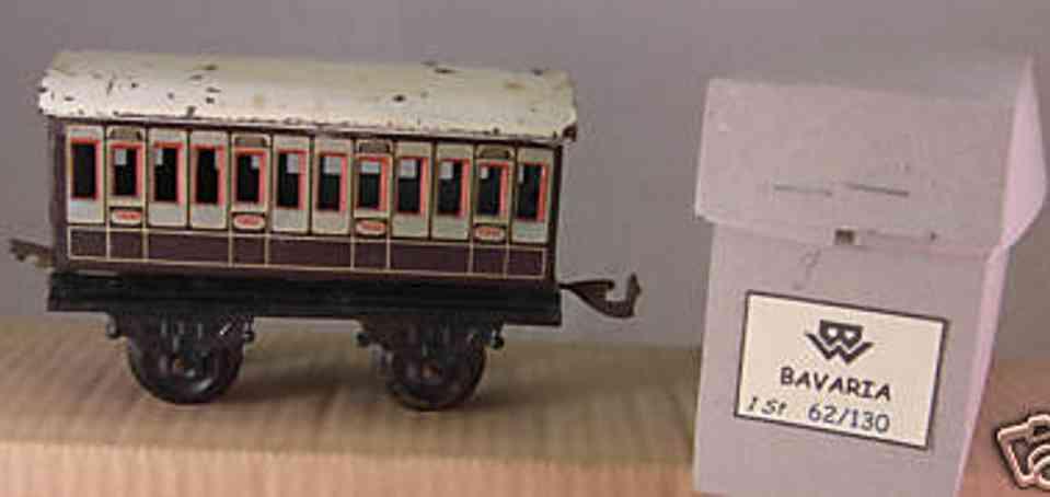 bing 62/130 spielzeug eisenbahn englischer personenwagen spur 0