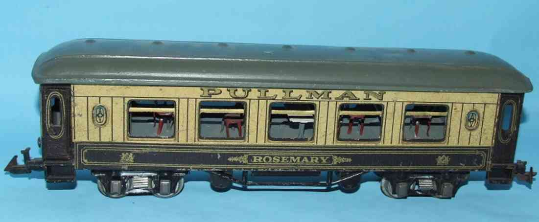 bing 62/190 railway toy rosemary bogie pullman rosemary gauge 0