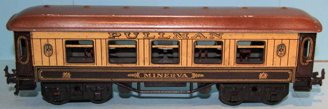 bing 62/190 railway toy pullman minerva brown cream gauge 0