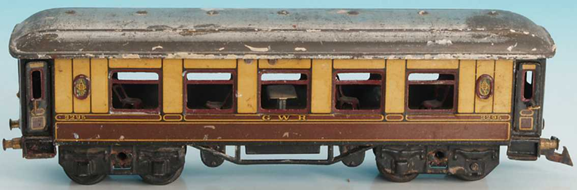 bing 62/190 gwr railway toy english dining car gauge 0