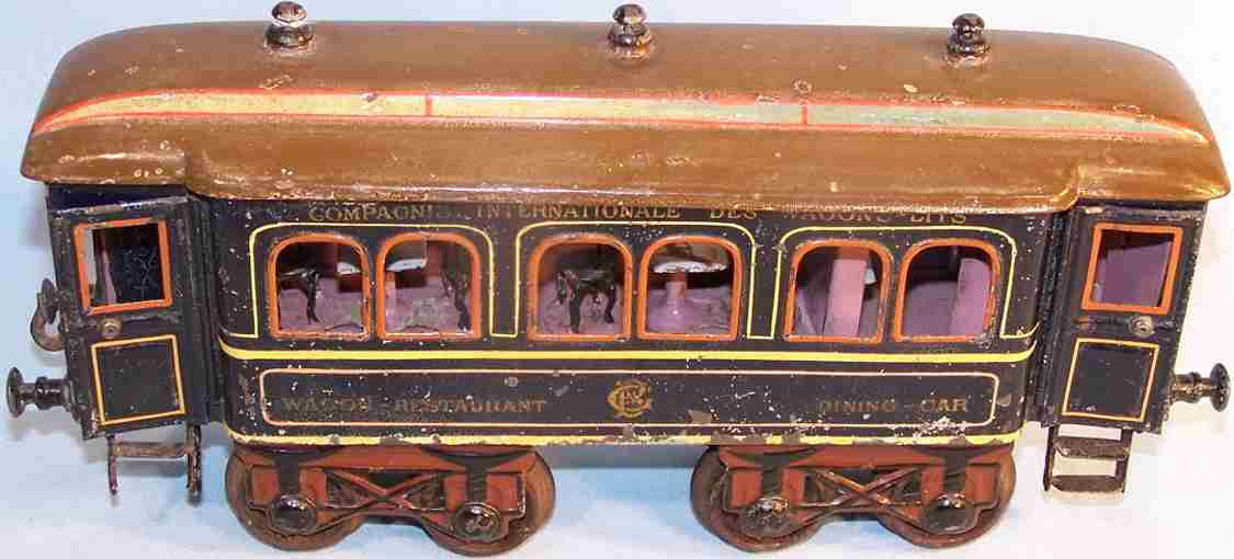 bing 7114/1 railway toy dining car blue gauge 1