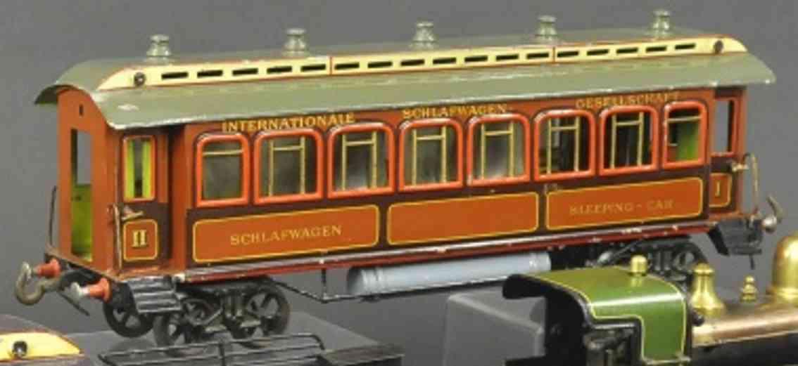 bing 7115/3 spielzeug eisenbahn schlafwagen braun spur 3