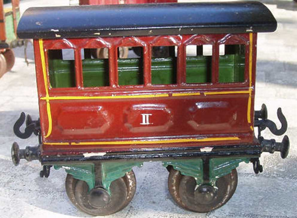bing 8402 railway toy passenger car brown gauge 1