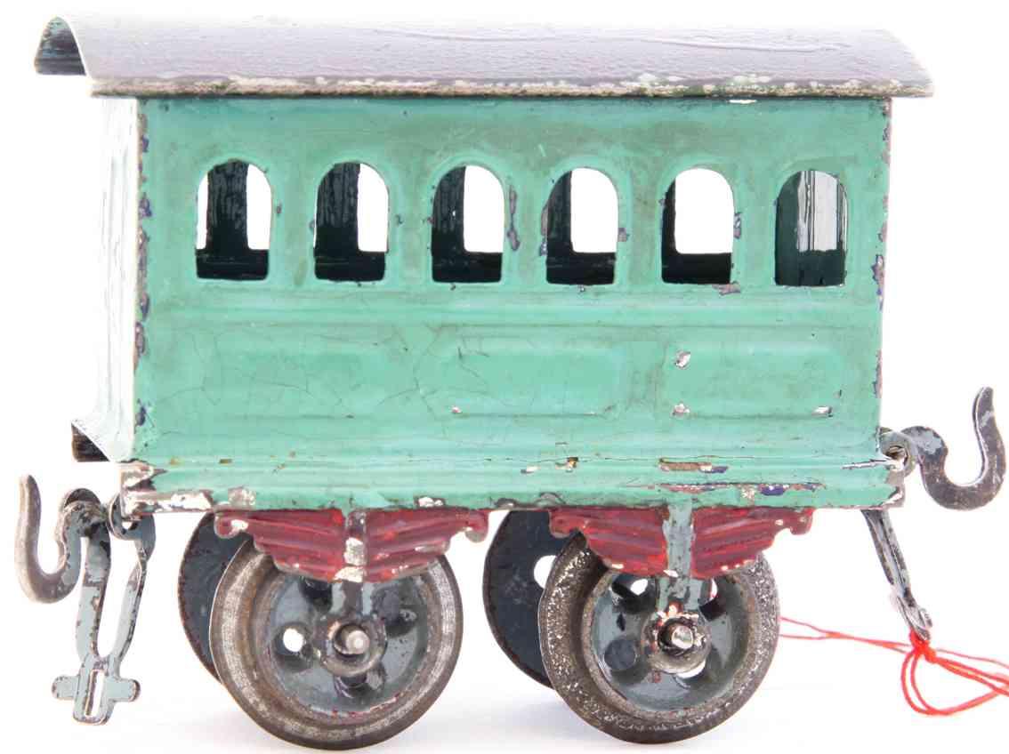 bing 8402 railway toy passenger car green gauge 0