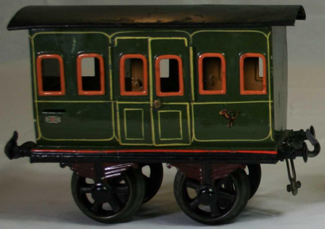 bing 9196/2 railway toy mail car green letter slot posthorn gauge 2