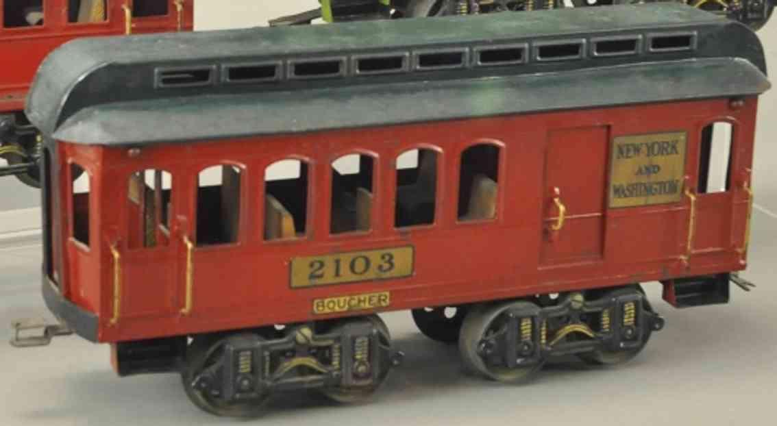 boucher he mfg co 2103 spielzeug schlafwagen orange gruen standard gauge
