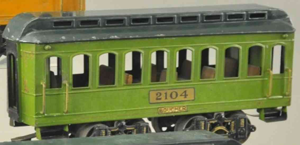 boucher he mfg co 2104 spielzeug personenwagen gruen standard gauge
