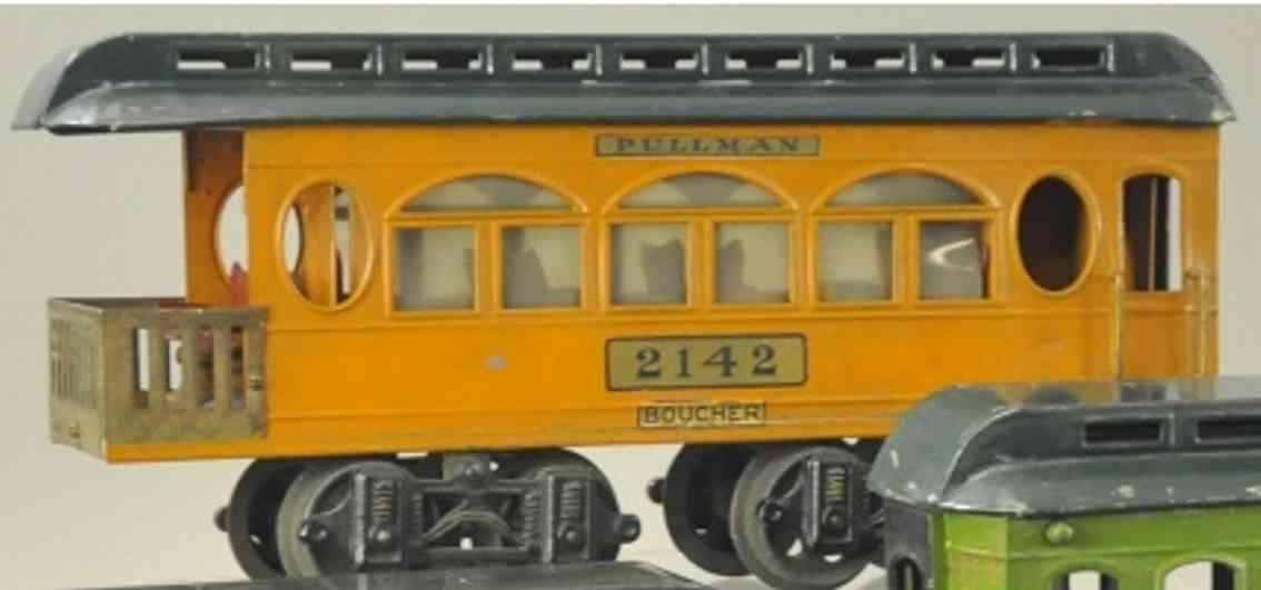 boucher he mfg co 2142 spielzeug schlafwagen orange gruen standard gauge