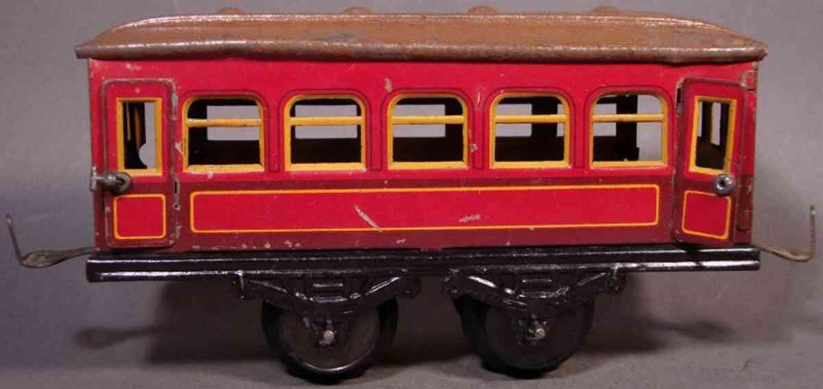 bub 1212 w spielzeug eisenbahn personenwagen braun spur 0